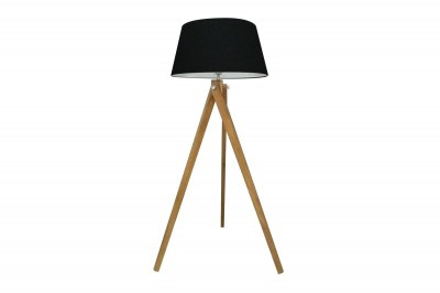 Dizajnová stojanová lampa Dawson, 155 cm, čierna