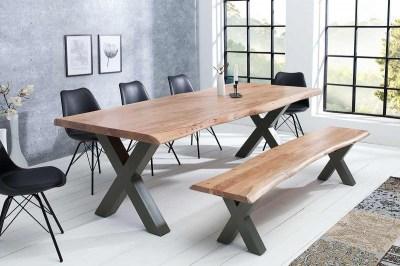 Dizajnový jedálenský stôl Massive X, 300 cm, akácia