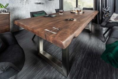 Dizajnový jedálenský stôl Massive Artwork, 240 cm, akácia