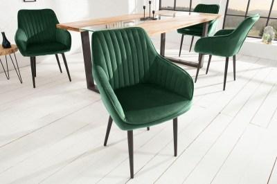 izajnová stolička Esmeralda, smaragdová zelená