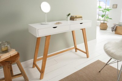 Dizajnová konzola Sweden, 100 cm, biela