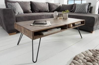 Konferenčný stolík Shayla, 110 cm, sivá akácia