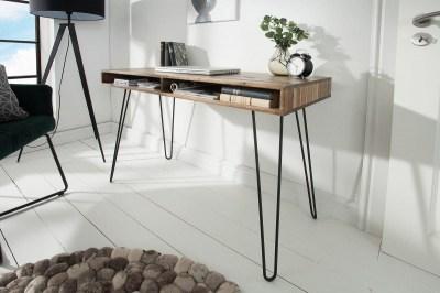 Písací stôl Shayla, 110 cm, sivá akácia