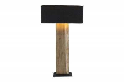 Dizajnová stojanová lampa Lorelei, čierna, orech