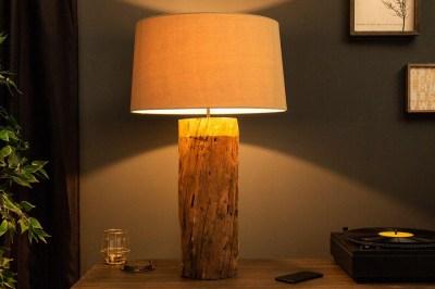Dizajnová stolná lampa Desmond, 73 cm, zlatá, ironwood