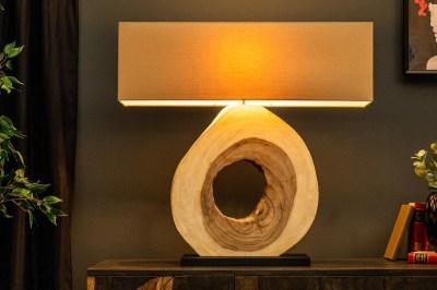 Dizajnová stolná lampa Deandre, 92 cm orech