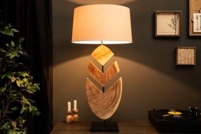 Dizajnová stolná lampa Deandre, 91 cm orech