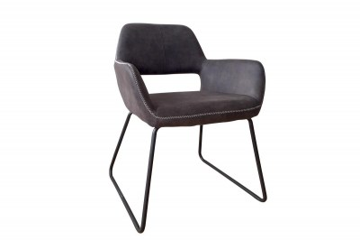 Dizajnová stolička Derrick, antik sivá