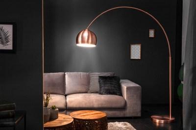 Dizajnová stojanová lampa Arch medená