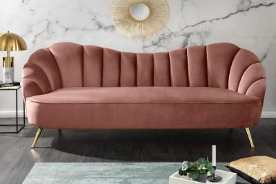 Dizajnová sedačka Adalia 220 cm staroružová