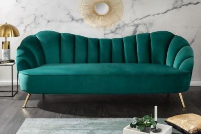 Dizajnová sedačka Adalia 220 cm tyrkysová