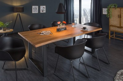Dizajnový jedálenský stôl Massive 160 cm hrúbka 35 mm akácia