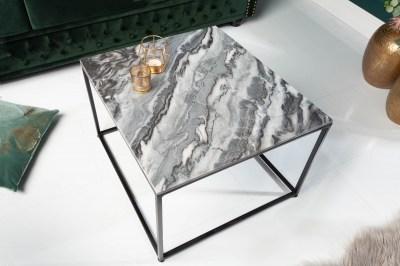 Dizajnový konferenčný stolík Acantha 50 cm mramor sivý