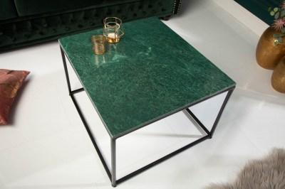 Dizajnový konferenčný stolík Acantha 50 cm mramor zelený
