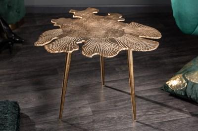 Dizajnový konferenčný stolík Lance 57 cm zlatý
