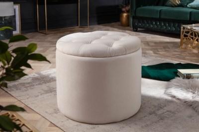Dizajnová taburetka Aamira 50 cm béžová