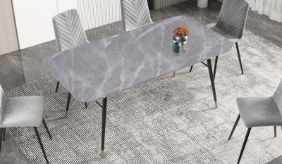 Jedálenský stôl Laney 180 cm mramor sivý