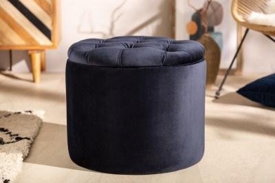 Dizajnová taburetka Aamira 50 cm tmavomodrá