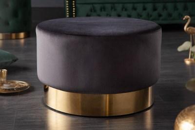 Dizajnová taburetka Rococo 55 cm čierna