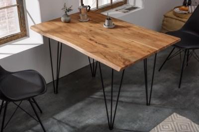 Dizajnový jedálenský stôl Massive 120 cm hrúbka 26 mm akácia