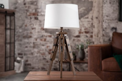 Dizajnová stolová lampa Dawson, 60 cm, biela