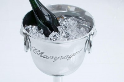 Dizajnový chladič šampanského Champagne 75 cm / strieborná