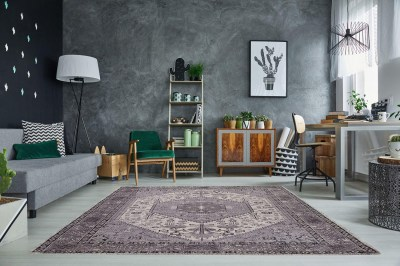 Dizajnový koberec Hertz 240x160cm / sivá