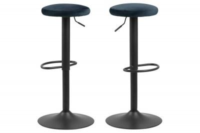 Moderná barová stolička Nenna, čierna-navy modrá