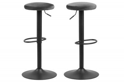 Moderná barová stolička Nenna, tmavo šedá