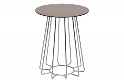 Moderný odkladací stolík Ahmed, bronzová / chrómová