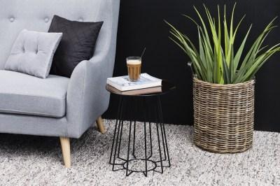 Moderný odkladací stolík Ahmed, bronzová / čierna