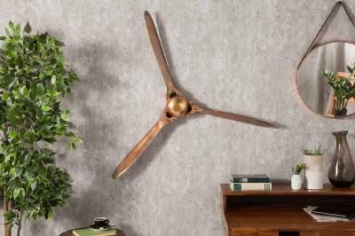 Nástenná dekorácia Wade 90 cm medená