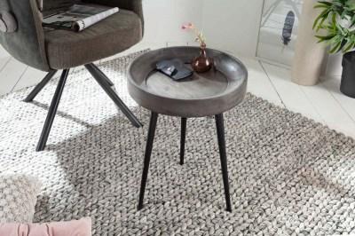 Odkladací stolík Desmond 35 cm sivá akácia