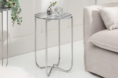 Odkladací stolík Tristen II 38 cm mramor sivý