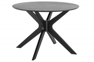 Okrúhly jedálenský stôl Neeja 105 cm dub čierny