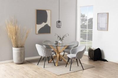 Okrúhly jedálenský stôl Neele 119 cm sklo