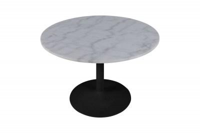 Okrúhly jedálenský stôl Night 110 cm Guangxi biely mramor