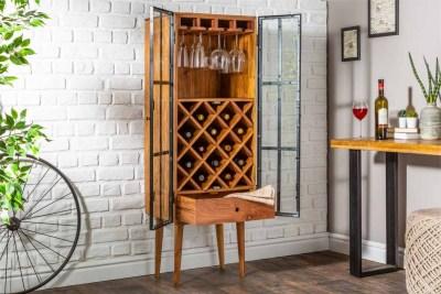 Regál na víno Winebar 145 cm akácia