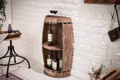 Regál na víno Winebar 79 cm prírodný