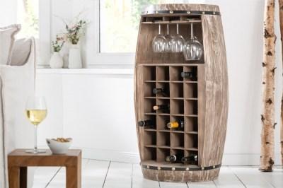 Regál na víno Winebar 97 cm prírodný