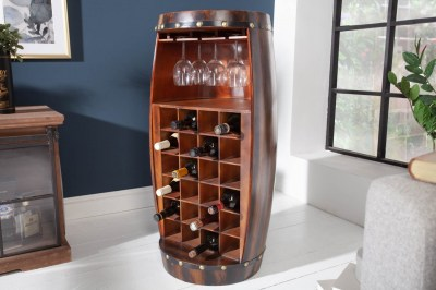 Regál na víno Winebar 97 cm hnedý