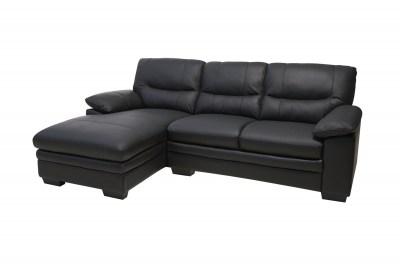 Rohová sedačka Abelard, čierna, ľavá