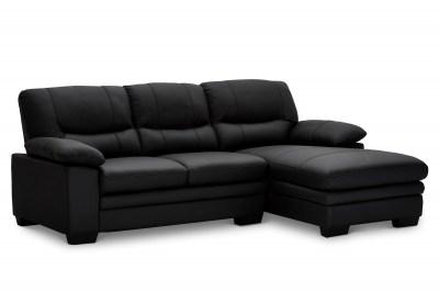 Rohová sedačka Abelard, čierna, pravá