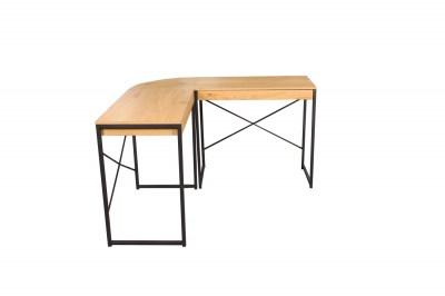 Rohový kancelársky stôl Kiana vzor dub