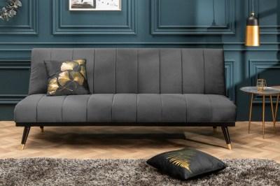 Rozkladacia sedačka Halle 180 cm sivá