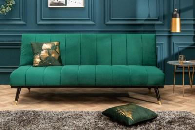 Rozkladacia sedačka Halle 180 cm smaragdovozelená