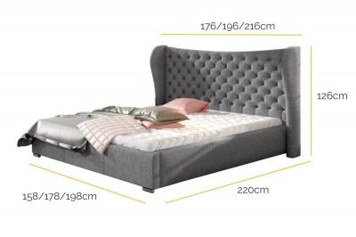 rozmer-dizajnova-postel-virginia-160-x-200