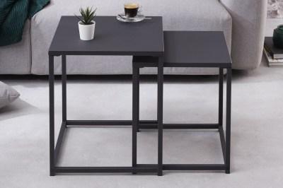 Sada konferenčných stolíkov Damaris čierna
