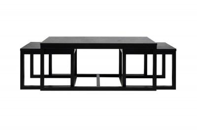 Set 3 konferenčných stolíkov Adolphe, čierna
