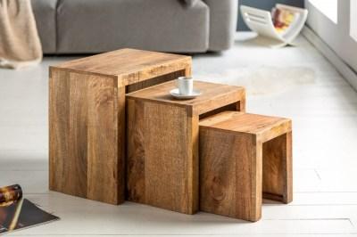 Set odkladacích stolíkov Timber mango prírodné - 3 ks